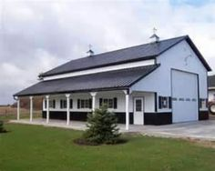 Barns on pinterest pole barns horse barns and pole barn for 16x10 garage door price