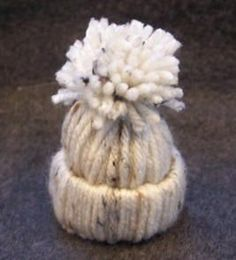 yarn stocking hat ornament