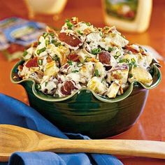 salad recipes, olive oils, potato salads, southern comfort foods, roasted potatoes, ranch potato, potatosalad, ranch dressing, green onions