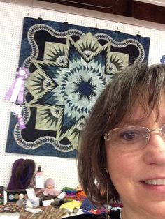 Glacier Star designed by Quiltworx.com, made by P.J. Miller.  Winning her first ribbon ever, this quilt took Grand Reserve Champion at the St. Croix Country Wisconsin Fair.