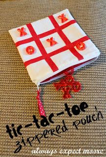 Expect Moore: Valentine's Day Tic-Tac-Toe in a Zippered Pouch