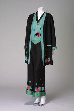 French rayon pajamas, c. 1925