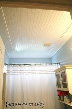 beadboard ceiling tutorial