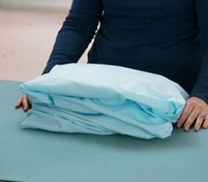 Real Simple: How to Fold a Fitted Sheet
