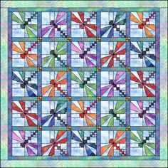 free dragonfly quilt patterns | ... Soon « Toadally Quilts – Quilt Patterns, Quilt Info, and more