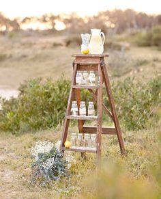 12 Delightful Drink Station Ideas: a ladder