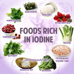 How many Iodine-rich foods do YOU like?❣?  ❥➥❥  @Andrew Weil, M.D. .~ Iodine used by the thyroid gland to produce hormones which regulate all key metabolic functions including blood cell production and nerve and muscle function. Because our body heat is primarily derived from muscle metabolism, these hormones also regulate body temperature. Topically applied iodine is also useful to help prevent wounds from becoming infected, and iodine tablets dissolved in water provide an inexpensive way to... …