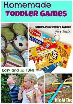 Easy and fun homemade toddler games