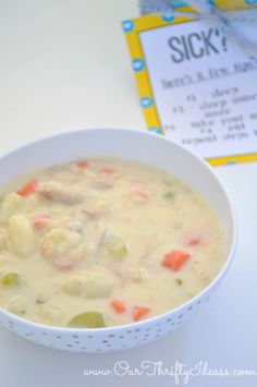 Turkey Chowder - the perfect recipe for a cold  dreary day (or a sick day) | http://www.ourthriftyide... #KleenexTarget #pmedia #ad #recipe