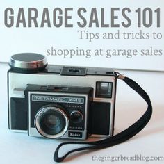 Garage Sale Shopping 101 >> Get Organized...great tips for successful yard sale shopping here!