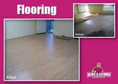 A little bit of a flooring before and after...