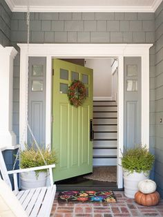 Lovely house color and front door combo.