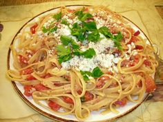Tomato & feta spaghetti
