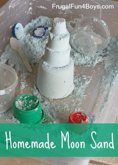 Homemade moon sand - so soft and squishy!