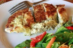 Pesto Cream Cheese stuffed Chicken breast