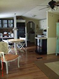 singlewide makeover | Momma Hen's Secret Single Wide Mobile Home Kitchen diningroom