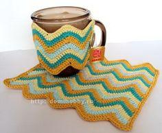 cup cozi, crochet patterns