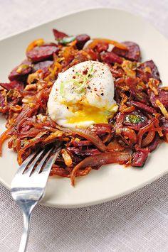 Spanish-inspired eggs and ham
