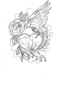 Coloring pages hearts and roses coloring pages coloring pages
