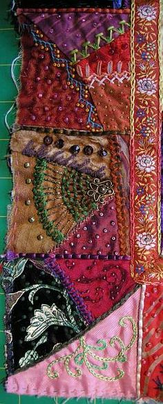 sew, alli, crazy quilting, embroidery in quilts, bead beauti, border block, embroideri stitch, embroideri complet, crazi quilt