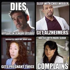 Grey's anatomy. Lol had to pin.