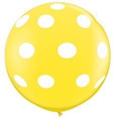 "Polka Dots on Yellow Giant 36"" Balloon"