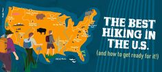 Here are 11 hiking-friendly national parks and the 10 essential items that any hiker will need. #hiking #infographic #outdoors