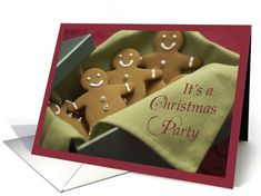 Christmas Party Invitation, Gingerbread... | Greeting Card Universe