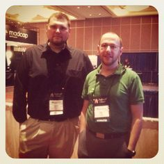 Shawn Collins and Chip Boyd of STC Staff at STC Central booth