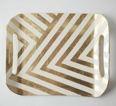 DIY tray? tape and gold paint. doable.