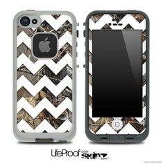 Camo Chevron Print Skin for the iPhone 4/4s or 5 LifeProof Case on Etsy, $9.99 I SO NEEd this!!