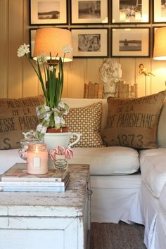 Great blog for pottery barn look on a budget @ DIY House Remodel