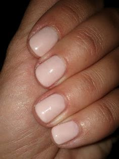 Gelish nail polish in Pink Smoothe. Let's see if it lasts as long as CND Shellac!