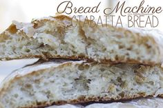Bread Machine Ciabatta Bread by jasnicmommy, via Flickr