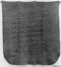 Wholecloth calamanco quilt  Date: ca. 1750, Metropolitan Museum of Art