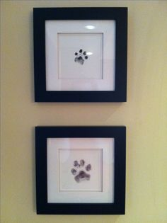 My puppies' paw print art :) Just used an ink pad to get their prints on paper.