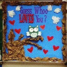 Owl Valentines Bulletin Board