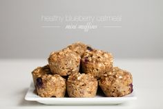 Kaley Ann Lifestyle Photography: Healthy Blueberry Oatmeal Mini Muffins