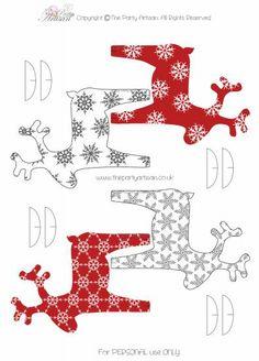 Renos imprimibles para decorar la Navidad   Fuxia Atelier