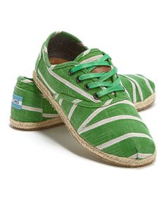 Love this Green Stripe Cordones by TOMS on #zulily! #zulilyfinds