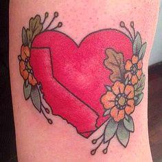 My new California tattoo, by Kapten Hanna of Idle Hand Tattoo in San Francisco. - Imgur