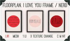 floorplan. i love you frame / nerd | Flickr - Photo Sharing!