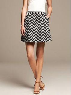 Zigzag Pleated Full Skirt | Banana Republic luuuuuurve this!