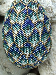 beadwork, bead egg