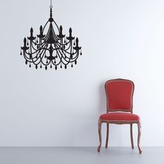Plaza Chandelier Wall Decal, want this for my kiddo's bedroom.