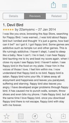 The REAL description of Flappy Bird. www.flappybirds.co.uk