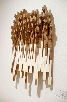 piano keys sculpture