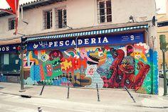 Street art in Madrid, Spain