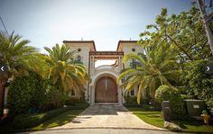 Entrance gates to Mediterranean villa, Deerfield Beach, Florida