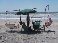 Beach Swing C Frame by firesculptureart on Etsy, $350.00